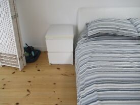 3x Ikea bedside tables (White or black / brown) - 2 draws