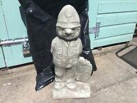 Concrete garden policeman ornament