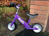 Tiny Bike, Balance Bike, 2-4 years Purple