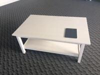 White stained wood coffee table