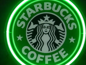 Starbucks Coffee Cafe Display Decor Neon Sign