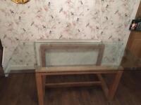 Next BROOKLYN Glass & Oak dining table