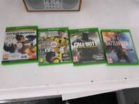 Xbox one games used excellent condition