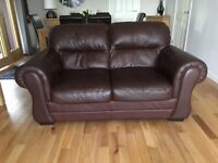 Leather 3+2 sofa & stool