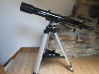 Skywatcher Evostar 90 AZ3 Refracting Telescope for sale complete with tripod and lenses