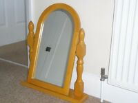 Antique pine dressing table mirror