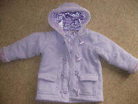 PURPLE DUFFLE COAT age 3-4 PERFECT COND - lined /zip/toggles - BARGAIN +FREE BEANBAG - Now REDUCED!