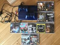 PS3 500gb with two controllers and 10 games
