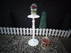 VINTAGE SOLID WOOD PLANT STAND PAINTED WITH LAURA ASHLEY PALE DOVE ABSOLUTELY STUNNING STAND