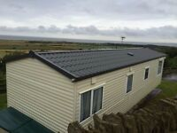 4/6 berth holiday home on a well-managed site in North Wales with stunning views over the Irish Sea