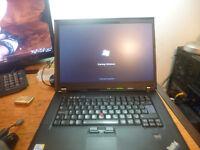 IBM Lenovo T500 Laptop 160Gb Hard Disk now got 4GB Memory now only £60
