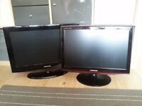 "2x Samsung TV / PC Monitor - 22"" & 20"" - both with Freeview"