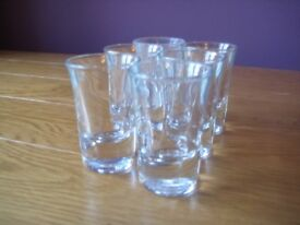 6 x Clear Shot Glasses