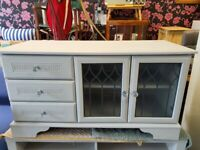 Grey TV Unit with drawers and Doors
