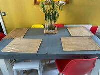 Real wood shabby chic extendable table