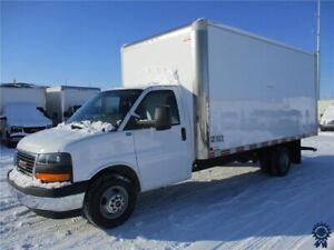"2017 GMC Savana 3500 177"" WB 16' Cube Van DRW, Transit Van Body"