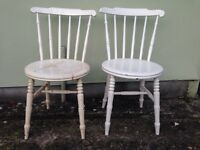A pair Vintage Oak chairs