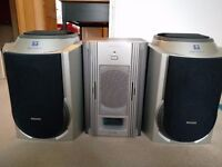 Philips woox speakers & Sony subwoofer