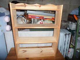 small light pine shelving unit