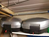 Two Panniers for Honda VTEC VFR 800in a good conditions in and out