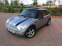 MINI COOPER 1.6 HATCH LEATHERS AIR CON SILVER WITH STRIPES