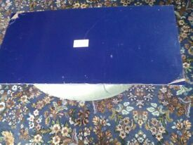 Blue Perspex sheet 100cm x 49 cm x 4mm. Very decorative variety of uses.
