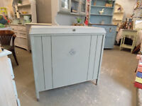 Large Painted Shabby Chic Bedding Linen Storage Chest Box
