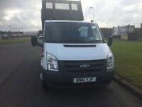 Ford Transit 100 T350 LWB CREW CAB TIPPER SUPER LOW MILES 46K NO VAT