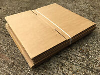 PACKS OF 10 x FLAT-PACKED CARDBOARD BOXES - Packing Moving House Ebay Student Packaging Posting