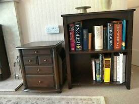 Small bookcase or magazine table, dark wood