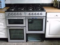 Flavel Milano 100 Range Cooker, Model MLN10FR, dual fuel, 18 months old but with a couple of issues