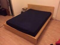 IKEA Malm Kingsize bed with mattress