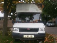 LDV LUTON 400 CONVOY VAN 2004 PLATE TAIL LIFT SPARES OR REPAIRS STARTS AND CUTS OFF FUEL PROBLEM