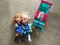 Frozen dolls and sleigh