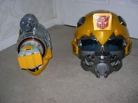 Transformers Bumblebee mask and plasma cannon, voice changer and cannon fires etc