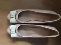Women pink middle high heels size 4/37