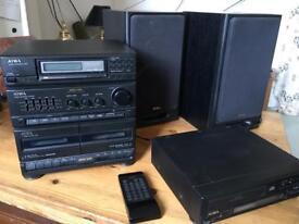 Complete Aiwa Mini HiFi System- NSX D3-Digital
