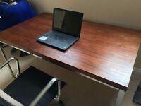 Walnut veneer office desk