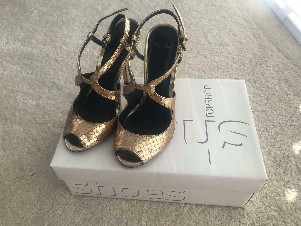 a7f256752d6 Topshop gold strappy heels | in Vale of Glamorgan | Gumtree