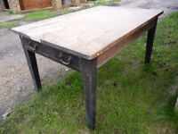 Pine farmhouse dining table for refurbishment, needs TLC!