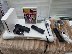 Nintendo Wii Setup with 2 Controllers