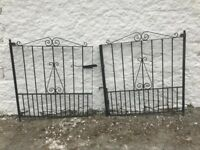 Heavy cast iron gates. Freshly welded.