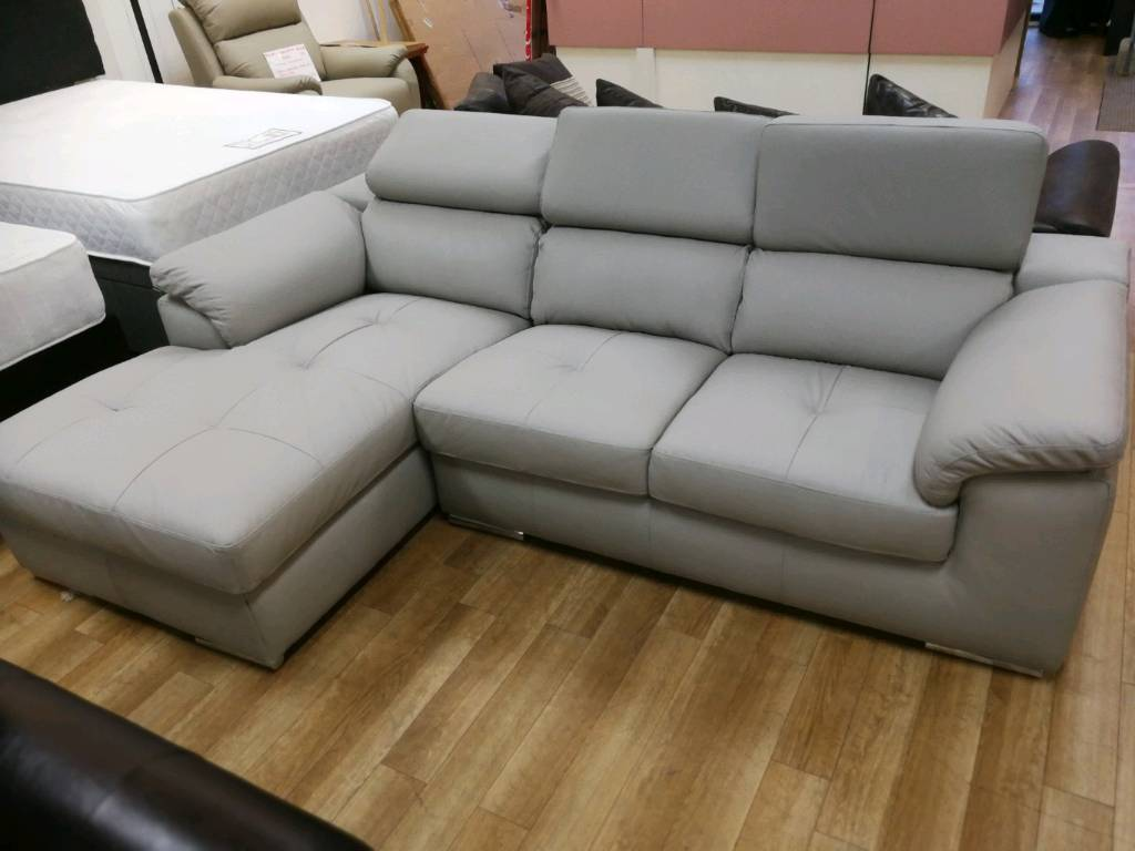 Pleasing Valencia Grey Italian Leather Corner Sofa With Chaise In Hamilton South Lanarkshire Gumtree Pdpeps Interior Chair Design Pdpepsorg