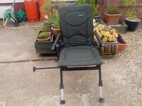 Prologic wide fishing chair with arms.