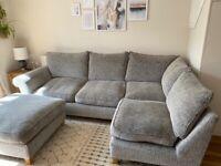 Corner sofa SCS and footstool