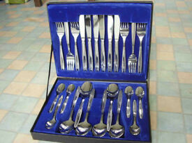 24 piece cutlery set - stainless steel
