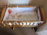 For Sale baby cot bed and baby basket