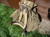WW2 BRITISH ARMY RUCKSACK COMMANDO BERGEN 1945 DATED