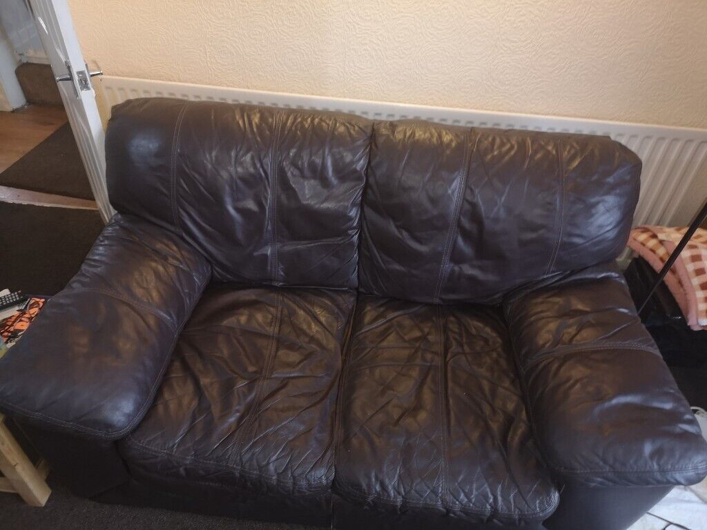 Used Brown Leather Sofa | in Doncaster, South Yorkshire | Gumtree