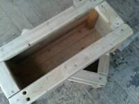 Wooden planters boxes